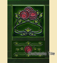 Decorative Ceramic 2 Tile Set