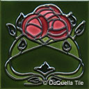 Art Nouveau ceramic tile design 5001