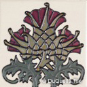 Arts and crafts ceramic tile Thistle flower design