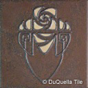 Arts and Crafts ceramic tile Glasgow Rose Flower design