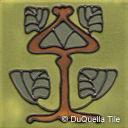 Arts and Crafts ceramic tile foliage design