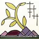 Art deco ceramic landscape tile design 5038