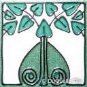 Art deco ceramic tile foliage design 5065