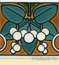 Art deco ceramic tile design
