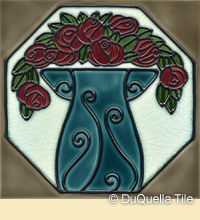 Art nouveau ceramic tile design