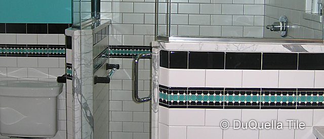 DuQuella Decorative Ceramic Bathroom Tile Installations