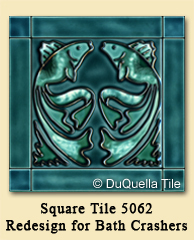 Square Tile 5062 Redesign for DIY Network's Bath Crashers