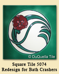 Square Tile 5074 Redesign for DIY Network's Bath Crashers