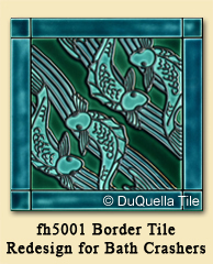 Horizontal Fish Border fh5001 Redesign for DIY Network's Bath Crashers