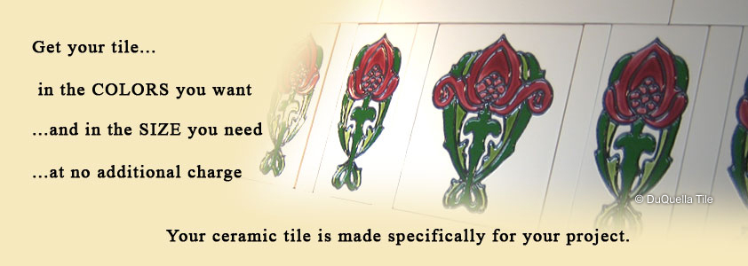 Visit our DuQuella Catalog website for custom decorative ceramic tile borders.