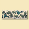 Art nouveau ceramic border tile floral design fb5010