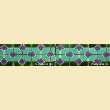 Art Deco Geometric tile border GB5006