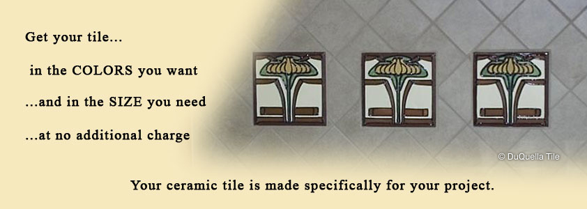 Visit our DuQuella Catalog website for custom decorative ceramic fireplace tile.