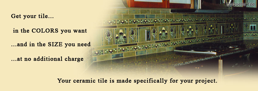 Visit our DuQuella Catalog website for custom decorative ceramic border tile.