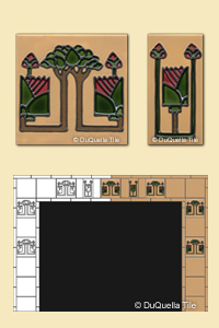 Custom Vertical Fireplace Design based on the inspiration of Square tile Patterns 5017