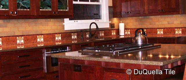 DuQuella Decorative Ceramic Kitchen Tile Installations